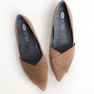 Dr. Scholls Brown Pointed Toe Flats Size 10
